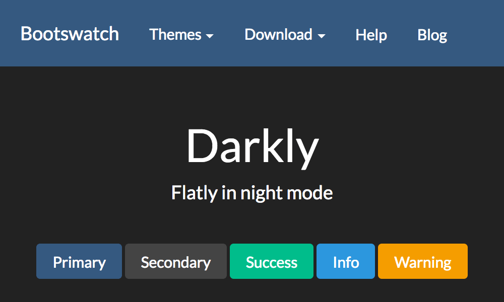 Darkly theme's thumbnail