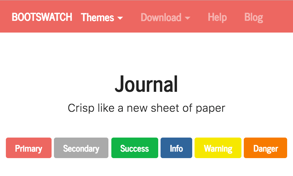 Journal theme's thumbnail