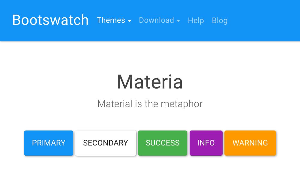 Materia theme's thumbnail